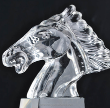 2018 crystal awards and trophies crystal horse head trophy for Souvenir Gift