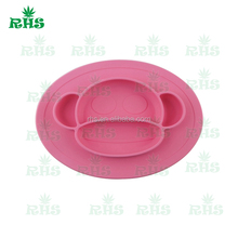 Factory Wholesale One-piece silicone placemat + plate Baby Bowl Kids Tableware silicone cups dishes
