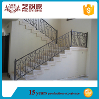home decoration YISHUJIA factory interior metal stair railing handrails, portable steel stair raile