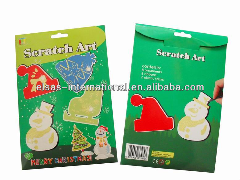 Kids creative scratch cut animated Christmas Card Unique kids