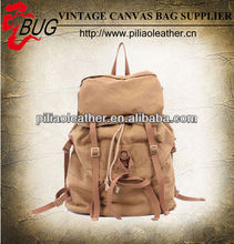 BUG hot sell 2013 new vintage canvas student school backpack rucksack bag manufacture wholesale