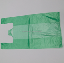 Green Color T-shirt Plastic Packaging Bags Supermarket Grocery Shopping Pouches retail carry out bag