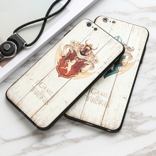 City&Case Wooden Phone Case For iphone 6 6s 6sp Printed With Game Of thrones Pictures