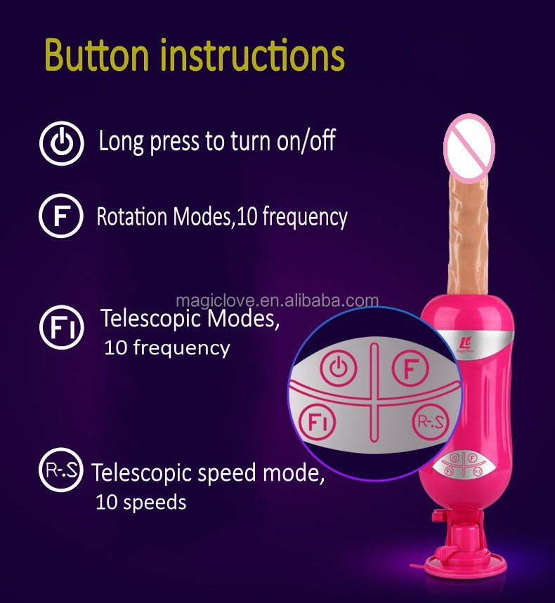 EASY LOVE L Automatic Telescopic Rotating Sex Machine Gun Vibrating Dildos Rechargeable Female masturbation Sex toys for women