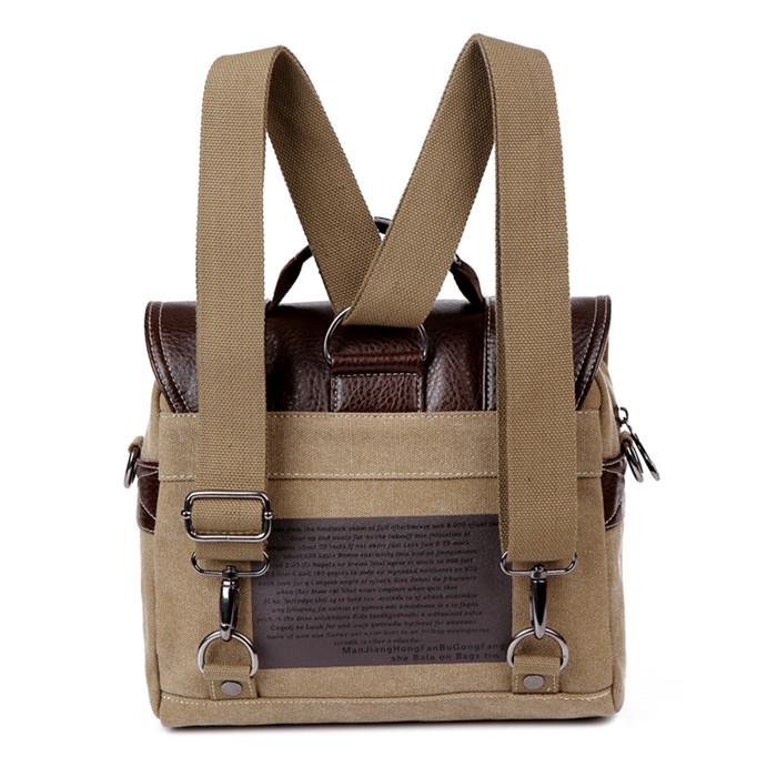 Online shopping retro canvas leather messenger shoulder bag men