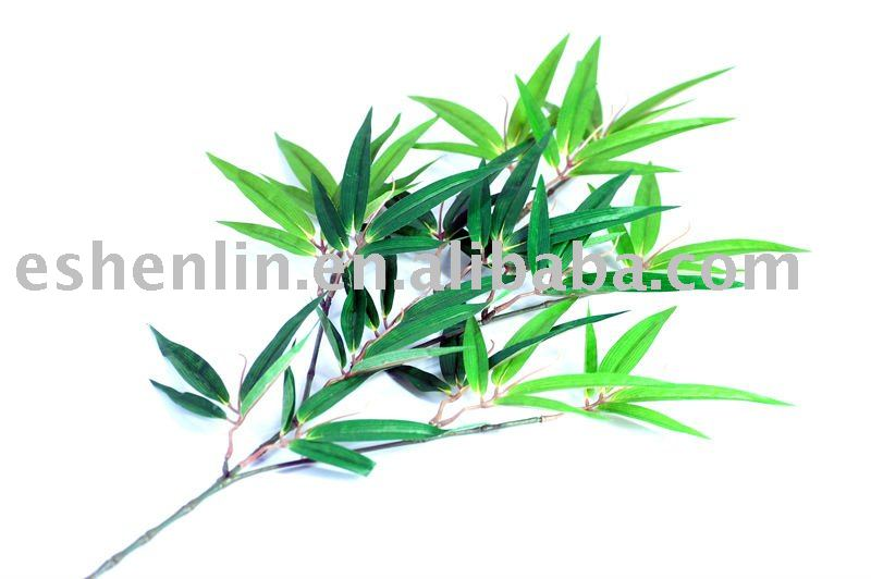 artificial bamboo leaves spray