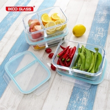 glass food airtight kids school lunch box with lock