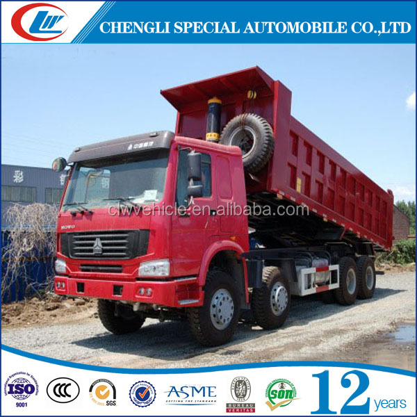 12 Wheels 35tons 40tons 45tons 50tons dump truck for sale