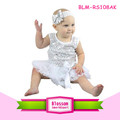 Good quality white baby girls tutu romper sleeveless summer wholesale baby sequin romper