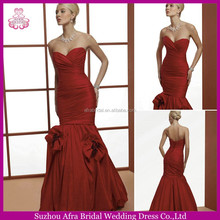 SD1213 sweetheart mermaid wedding dress pattern red western christmas wedding dresses without train