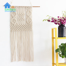 Factory supply high quality decoration tapestry wall hanging with tassels