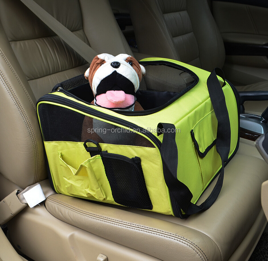 Folding Pet Car Seat Carrier for Dog Cat ,Lookout Booster Seat