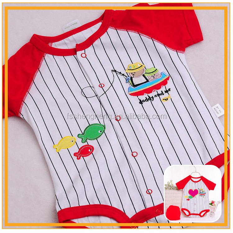 Competitive price cotton print baby summer clothes
