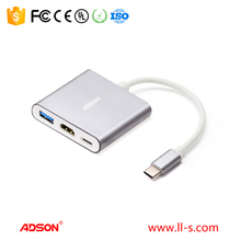 TYPE-C to HDMI1.4b Adapter + USB 3.0 Hub support for Macbook, the Chromebook Pixel