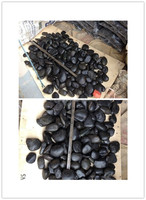 China Cheaper Round Stone Black Cobbies/paving stone /river stone