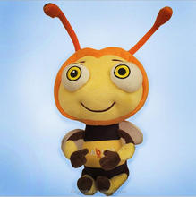2017 custom bee plush stuffed toys plush bumble bee soft toy