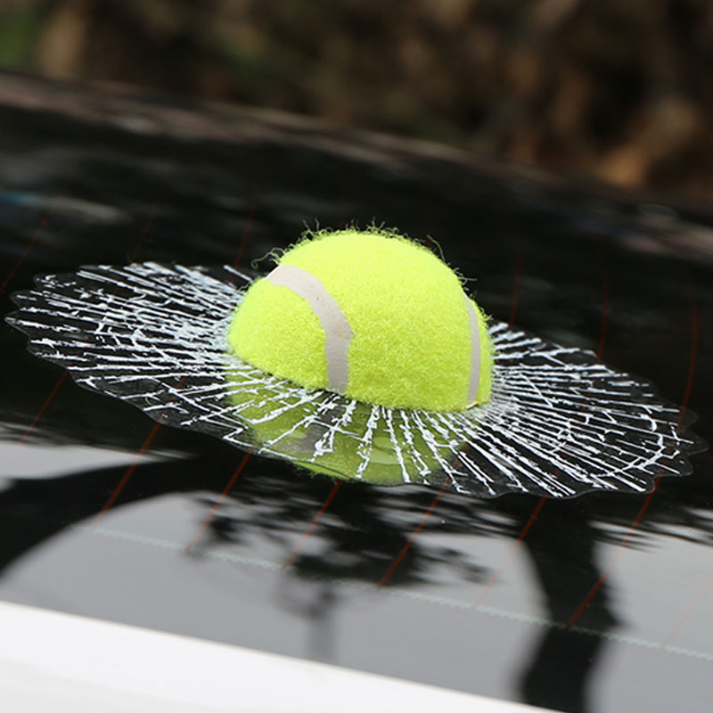 ETIE 3D Car Sticker Funny Auto Car Styling Ball Hits Car Body Window Sticker Self Adhesive Tennis Decal