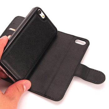 for custom uv printing blank leather case magnetic detachable 2 in 1 leather case