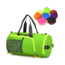 Customized Round Large Capacity Waterproof Sports Travel Gym Folding Shoulder Duffel Bag