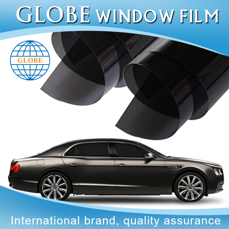 Free samples tint 2 ply black car protection sound proof window film price