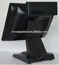 "New arrival 15"" POS kits with touch screen for milk-tea shop at low cost with perfect design"