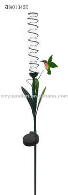 hummingbird solar stake light for garden decoration
