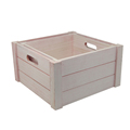 FSC&BSCI handmade rustic wash white distressed cheap wooden crate