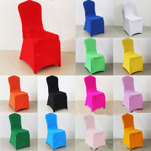 50PCS Universal White Stretch Polyester Spandex Lycra Chair Covers Weddings Decoration Party for Chairs Wedding