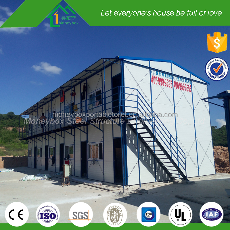Movable recycle eco friendly fireproof prefab 3 storey office building with full set office facility design
