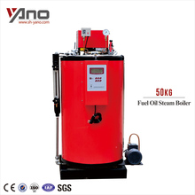 Automaic 50-1000KG/Hr 3 Pass Vertical Water Tube Fuel Diesel Boiler with Multiple Chain Safeguard Equipment