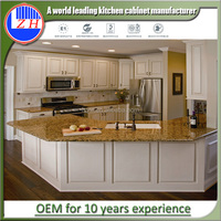 Simple designs vinyl wrap / mdf / plywood kitchen cabinet made in china