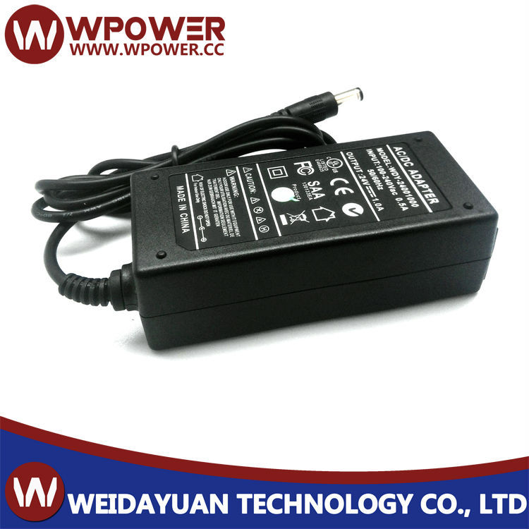 24v1a switching power supply/24 volt power supply with UL FCC CE ROHS SAA C-TICK certifiates