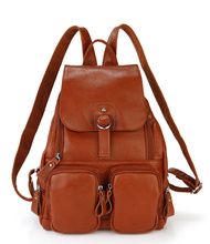 New trend genuine leather cute custom school bag rain cover, leather school bag