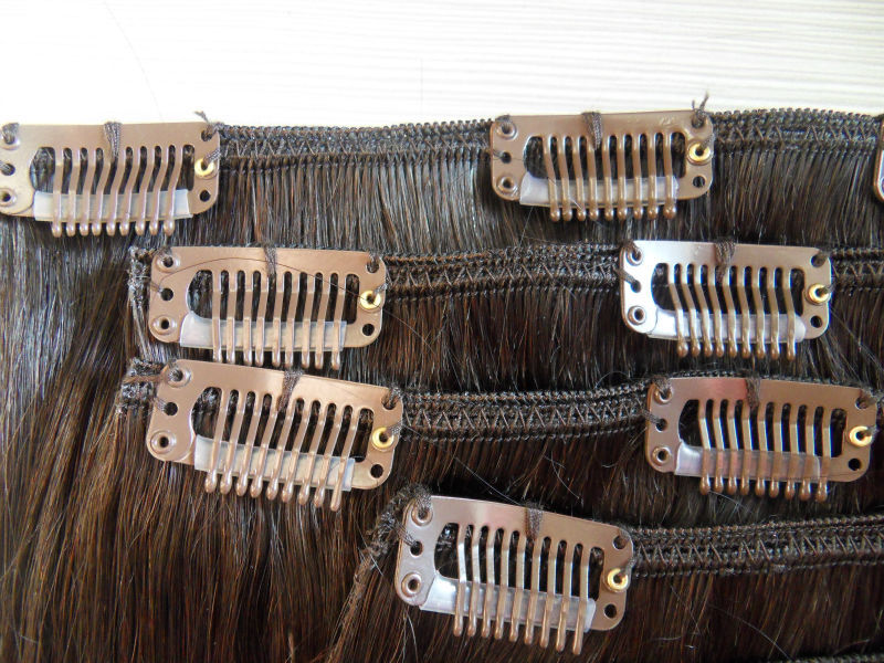 full head thick 220g indian cheap 100% virgin remy double weft clip in human hair extensions