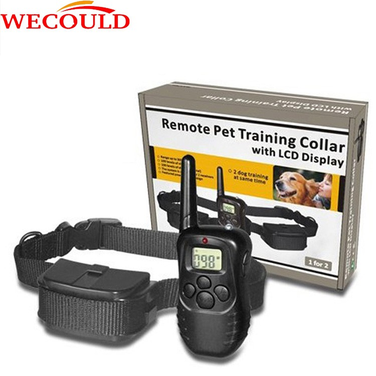 Top sale Dog Training Collar Anti Bark Shocker Peted Electric Waterproof Shock Dog Training Collar With Remoter Dog Control