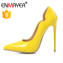2017 fashion plus size colorful heel shoes 5 inches high heel women pumps