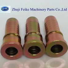 Carbon steel CNC produce hydraulic swaged hose fitting