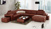 modern living room leather sofa Chinese furniture import R6007