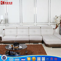 2015 new sofa design leather sets L shape