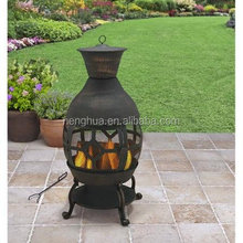 Gardens Cast Iron fire pit Chiminea, Antique Bronze