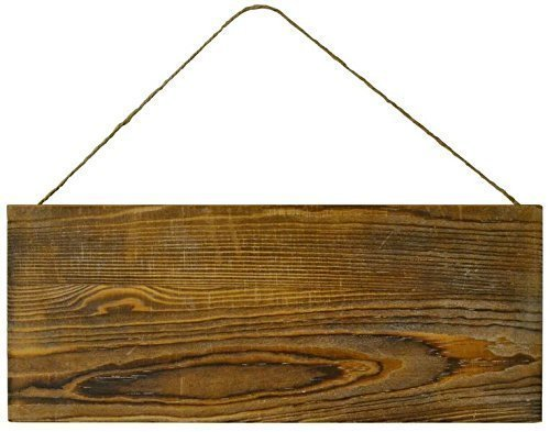 Wood Rustic Plank Sign with Jute Hanger