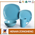 Now cheap 16pcs wholesale stock blue sqaure tableware dinner set