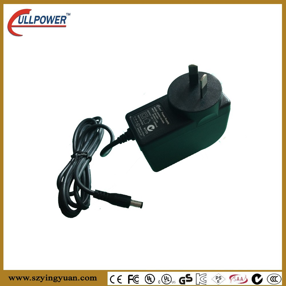 12v Dc Power Adapter Supply 2.1mm 5.5mm 1.5a 2000ma, CCTV PSO LED Driver meet tne Australia market with CB SAA C-tick approval