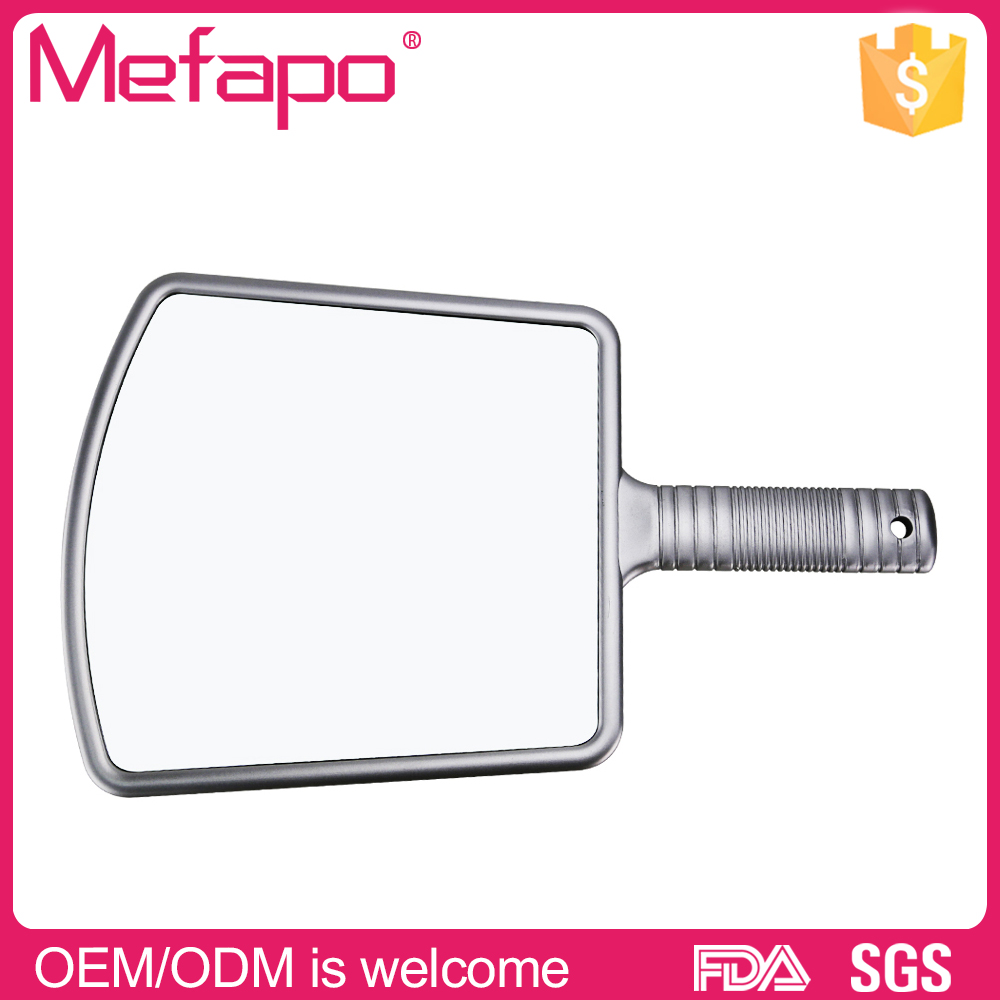 Wholesale square single sides customized logo hand mirror
