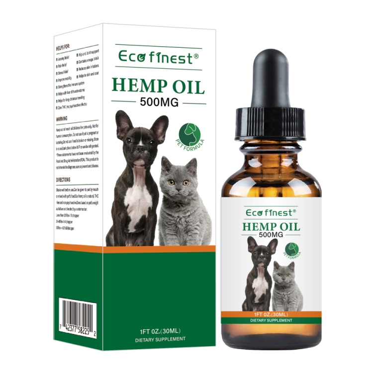 ECO finest Pure Hemp Oil For Pets Products Organic Formula - Used to Relieve Anxiety Stress Pain Relief Arthritis Hip and Joint