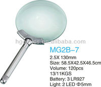led magnifier lamp/led light reading magnifying glass/led light magnifying mirror
