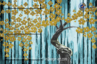 Wholesale Handpainted Abstract Decorative Flower Tree Oil Painting 100% Handmade Canvas Art