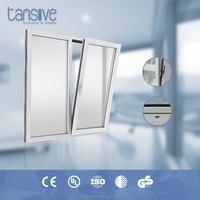 double glazed Low E glass soundproof modern aluminum tilt and turn window design