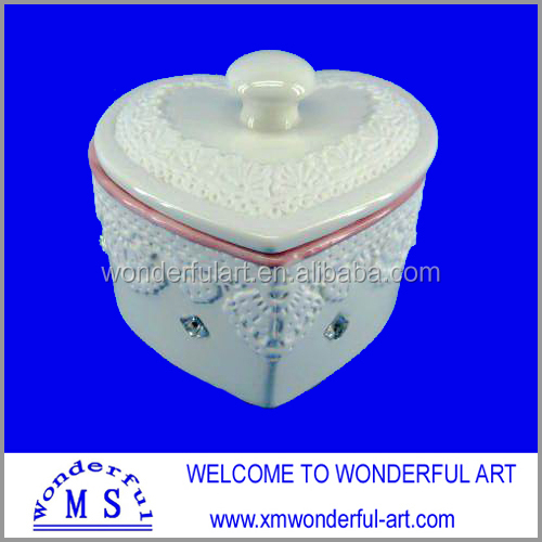 new style porcelain jewellery box with acrylic