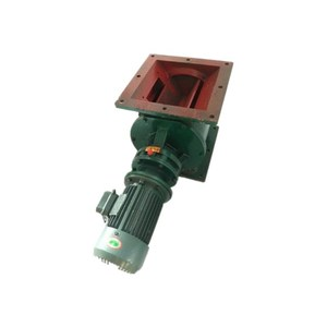 Cast iron square type rotary airlock unloading discharge valve for sale